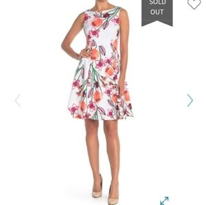 CALVIN KLEIN FIT AND FLARE GORGEOUS DRESS